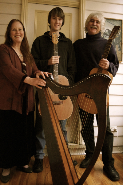 Harp teacher Dawn Egan
